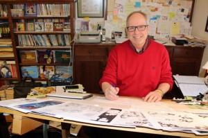 Tom Batiuk in his studio